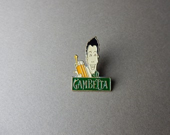 Gambetta boy café bistro Paris 90's Enamel Pin badges