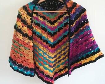 Glittery multicolored shawl