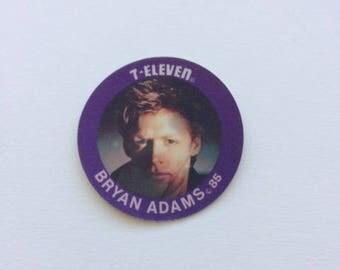 Bryan Adams Vintage 7-Eleven Lenticular Coin 1985