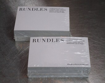 RUNDLES NOTE CARDS.  (x4 Packs.)