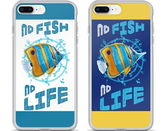 Aquarium Fish Lovers' iPhone Case - Gift for Aquarium Fish Enthusiast - Funny Aquarium Gift - No Fish No Life