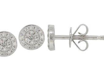 Round Diamond Stud Earrings 14k Gold - 0.11 Ct.