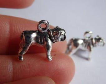 10 bulldog charms Dalmatians Tibetan silver antique pendant wholesale AM126
