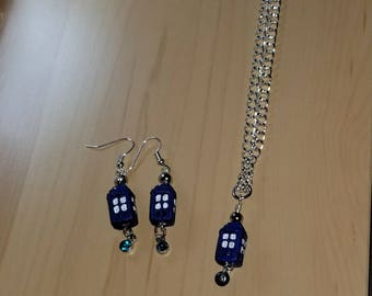 TARDIS Earring and Pendant