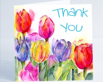 Thank You Greeting Card - From an original painting by Sheila Gill
