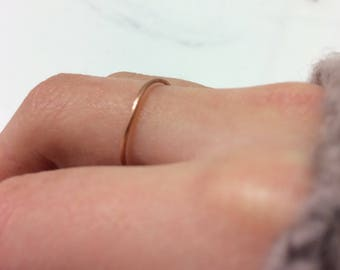 10 copper simple thin skinny  cute ring bands 2 inches