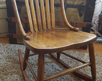 Antique Nursing/Sewing Rocking Chair
