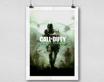 Call of Duty modern warfare first person shooter video game home decor poster