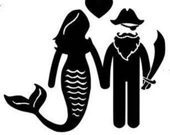 Mermaid Pirate Decal