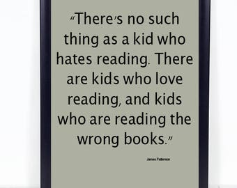 Kids reading quote, book quote, classroom quote--DIGITAL FILE