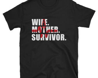 Wife Mother Survivor Life Victory Shirt Gift Tee