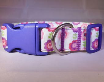 "1"" Purple Floral Collar"