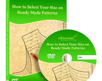 How to Select Your Size on Ready Made Patterns Video Lesson on DVD