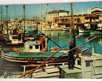 Vintage Postcard of Fisherman's Wharf, San Francisco, California