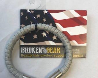 Broken Gear Bullet Bracelet - Silver Bullet