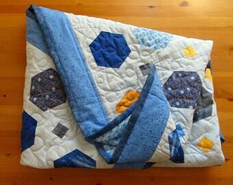 Patchwork Cosmic duvet cover, children duvet cover