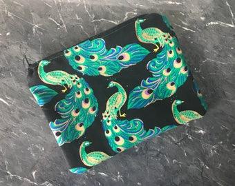 Zipper Pouch, Zipper bag, handheld bad, printed bag