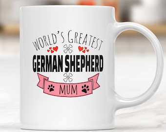 German Shepherd Mug, Mugs For Dog Lovers, Personalized Mug Dog, Gift For Dog Lover, Mug Dog, Coffee Mugs Dogs, Gifts For Dog Lovers, GSD