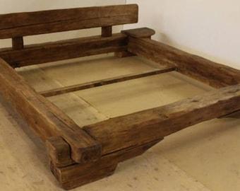 Bett Bettrahmen Holzbett Altholz Vintage 180x200 160x200 140x200 Reclaimed Wood