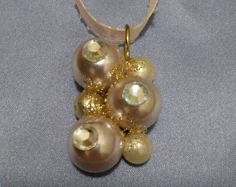 Flushed Pearl & Rhinestone Necklace