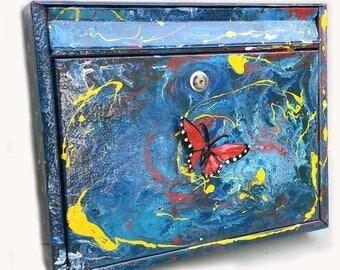 modern mailbox letterbox postkasten briefkasten butterfly casie POSTBOARDS