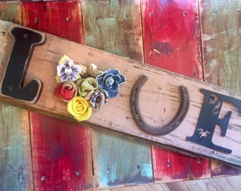 Got Junk? Vintage Wood and Scrap Metal Sign-Built by hand and made with love!