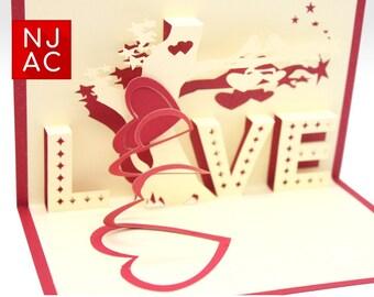 Pop Up 3D Valentines Love Card