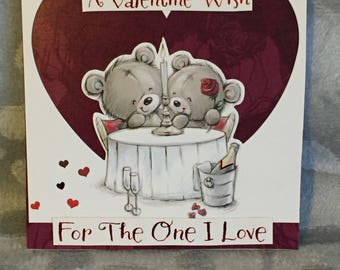 For The One I Love Valentines Day Card