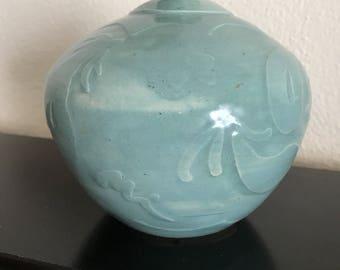 Vintage pottery weed pot bud vase