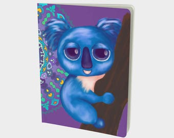 "Journal (Lg) Cute Animal Illustration ""Cirque Koala"" by Malinee Ganahl. Notebook, Sketchbook. Plain, ruled, grid, or bullet pages. 7.25""x10"""