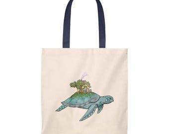 Tortoise Tote Bag  Vintage