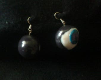 Here's looking at you kid polymer clay earrings