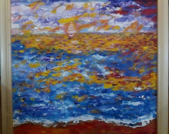 Original Art Impressionism Oil painting Abstrct on Canvas Emotions