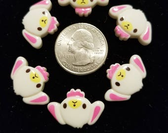 Resin Cute Little Puppy 8 Pieces for charms/earrings/necklaces/ hairbow/scrapbooking /crafts, etc.