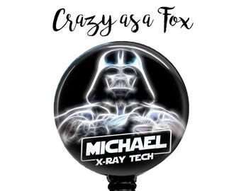 Star Wars Personalized Darth Vader X-Ray Tech Retractable Badge Holder, Badge Reel, Lanyard, Stethoscope ID Tag, X-Ray Tech Gift