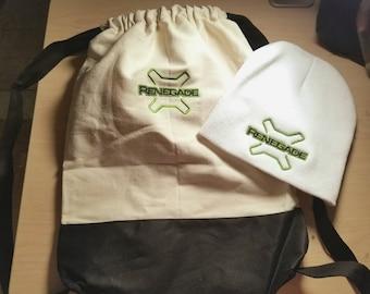 Jeep Renegade Canvas Drawstring Backpack/Bag