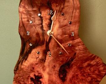Burr Mantle Clock