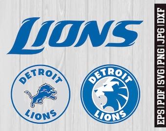 Detroit Lions SVG Files, Detroit Lions Logos, Football Logos, Football Die Cut SVG, Cutting Machine Files, Decal Vinyl * SVG29
