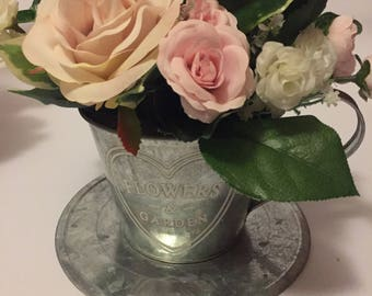 teacup flower arrangement mothers day, birthday gift