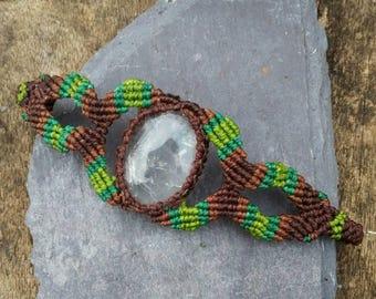 Clear Quartz macrame bracelet