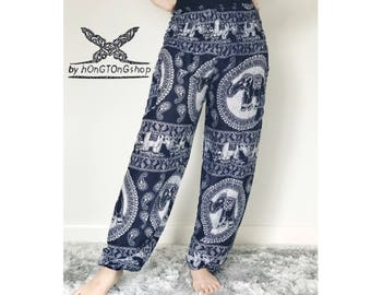 Harem pants Thai Comfiest Harem pants Yoga pants Hippie pants Airy Lightweight Gypsy Pants Boho pants Strenchy harem festival pants
