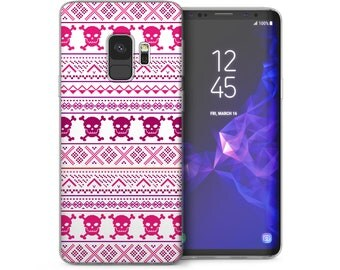 Samsung Galaxy S9 Case, Aztec Skulls Jumper Fashion Design Soft Thin Cover