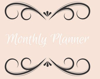 Simple Monthly Planner Printable