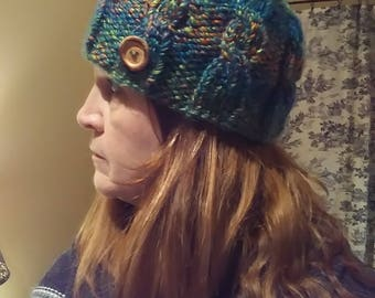 Variegated Cable Beanie.