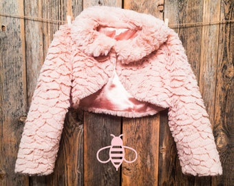 Fluffy Pink Bolero for Baby Girl