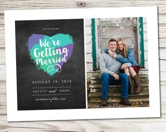 Save the Date Announcement, Save the Date Magnet, Save the Date Postcard, Good News Save the Date Announcement