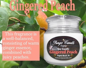 Gingered Peach Soy Jar Candle (16 oz.)