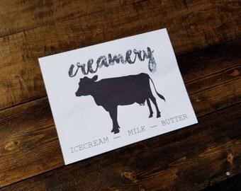 Creamery Farmhouse Printable