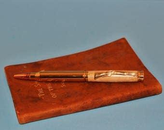 308 Bullet Pen, Birdseye Maple, twist ball point pen, Parker mechanism, Easter gift for man, woodturned pen,WoodsmithPens, hunter, wood pens