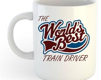 The Worlds Best Train Driver Mug